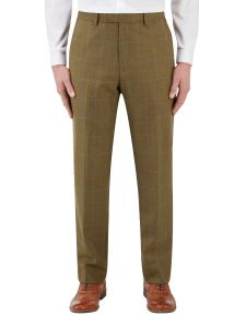 Bailey Suit Trouser Lovat with Blue Check