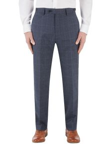 Anello Suit Tapered Trouser Blue Check