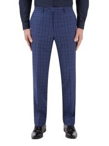 Tucci Suit Tailored Trouser Blue Check