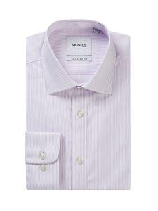 Lilac / White Stripe Formal Shirt