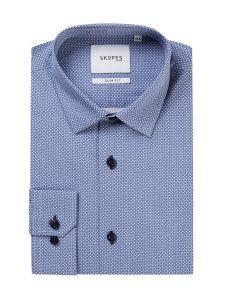 Slim Formal Shirt Blue Geo