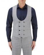 Anello Suit DB Waistcoat Grey Check