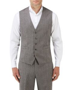 Callan Suit Waistcoat Grey / Red Puppytooth