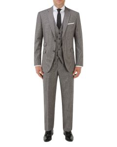 Callan Suit Grey / Red Puppytooth