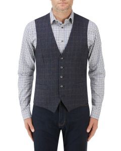 Hanagan Waistcoat Blue Check