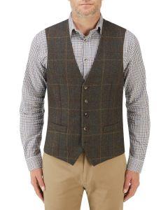 Hanagan Waistcoat Green Check