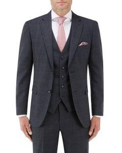 Momoa Suit Jacket Navy Check