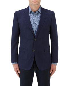 Regis Suede Effect Jacket Blue