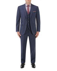 Callan Suit Blue / Purple Puppytooth