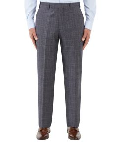 Crawford Suit Trouser Blue POW Check
