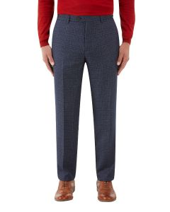 Woolf Suit Tailored Trouser Navy Check