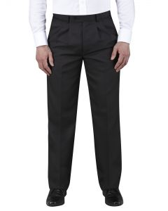 Waterford Black Twin Pleat Trouser
