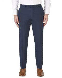 Egan Navy Flat Front Suit Trouser