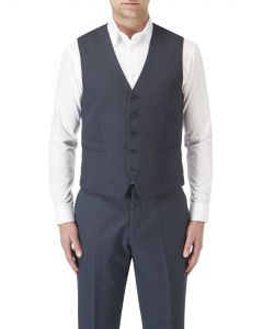 Sharpe Blue Semi-Plain Waistcoat