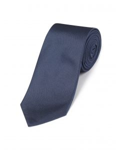 Navy Changeant Silk Tie