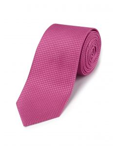 Fuschia Textured Silk Tie