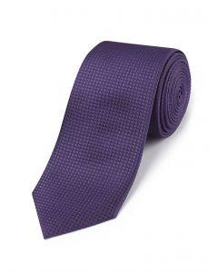 Purple Textured Silk Tie