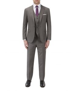 Frazier Textured Suit Grey