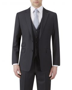 Loftus Wool Suit Jacket Black Stripe