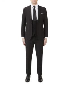 Milan Slim Suit Black