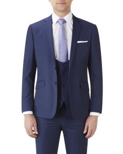 Milan Slim Suit Jacket Blue