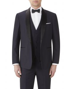 Newman Dinner Suit Jacket Navy Check