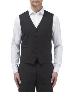 Madrid Black Suit Waistcoat