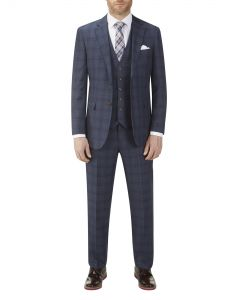 Moseley Suit Blue Check