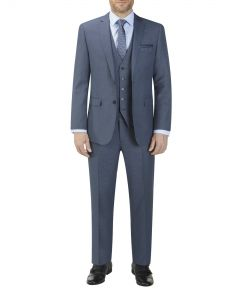 Fermo Suit Blue Micro Check