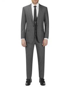 Orte Textured Suit Grey Black