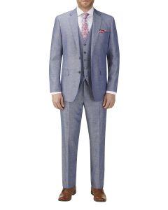 Carlo Linen Blend Suit Blue