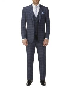 Barletta Suit Blue Check