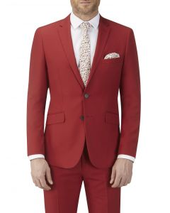 Silas Suit Jacket Red