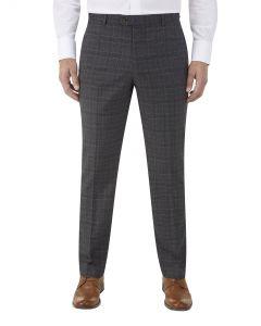 Lynham Suit Slim Trousers Charcoal Check