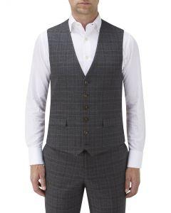 Lynham Check Suit Waistcoat