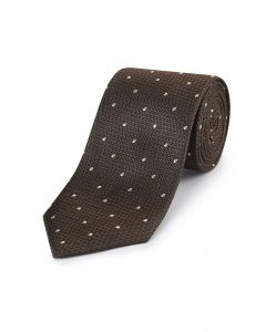 Brown Spot Silk Tie