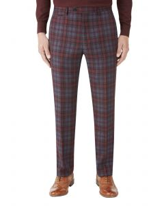 Garfield Suit Slim Trouser Red Check