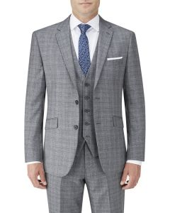 Kolding Tailored Suit Jacket Grey / Blue Check