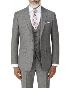 Bremner Tweed Suit Jacket Grey