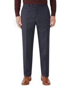 Rostrevor Suit Trouser Navy Check