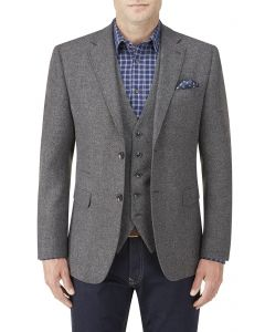 Hafren Wool Blend Jacket Charcoal