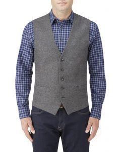 Hafren Wool Blend Waistcoat Charcoal