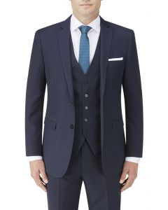 Nyborg Suit Jacket Navy Micro Check