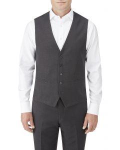 Nyborg Suit Waistcoat Charcoal Micro Check