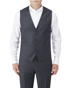 Charnwood Suit Waistcoat Navy Check