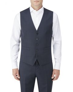 Wentwood Suit Waistcoat Navy Check