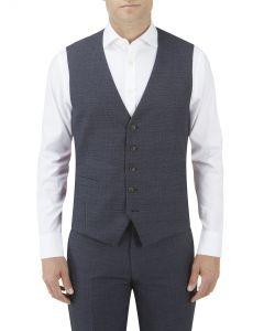 Staunton SB Suit Waistcoat Navy Check