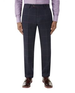 Kinver Suit Trouser Navy Check