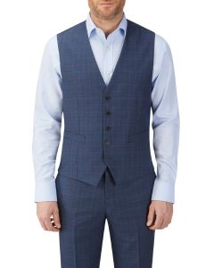 Sheldon Suit Waistcoat Blue Check