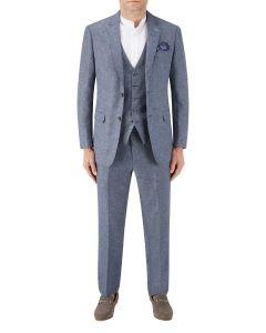 Lagasse Linen Blend Suit Navy